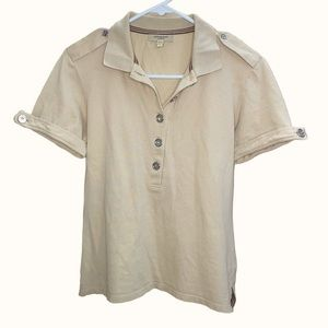 Women's Military Style Collared BURBERRY Polo Top